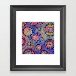 Celestial Stars - Sending Love and Healing Light  Framed Art Print
