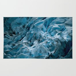 Blue Ice Glacier in Norway - Landscape Photography Rug
