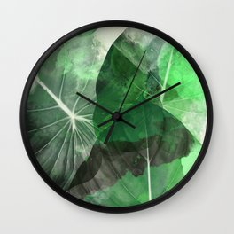 tropical green  Wall Clock
