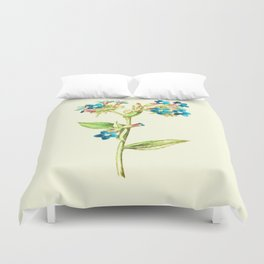 Columbine Flowers Duvet Cover