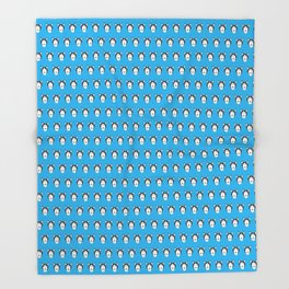 Lance Bright Blue Throw Blanket