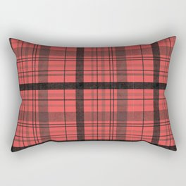 Black & Red Plaid Rectangular Pillow