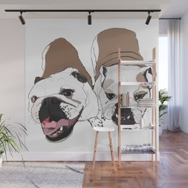 English Bulldogs Wall Mural