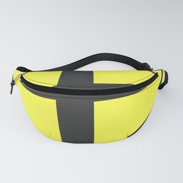 """""""Cross road"""" - 3d illustration of yellow roadsign isolated on white background Fanny Pack"""