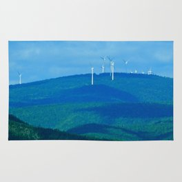 Windmills on the Hill Rug