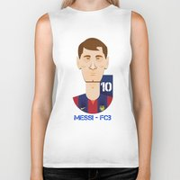 messi Biker Tanks featuring Messi Barcelona by Sport_Designs