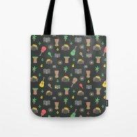 reggae Tote Bags featuring Cute Reggae by Anna Alekseeva kostolom3000