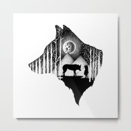 LOST IN THE WILD Metal Print