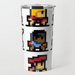Minimalistic - Street Fighter - Pixel Art Travel Mug