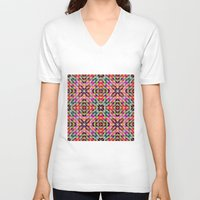 mosaic V-neck T-shirts featuring Mosaic by David Zydd