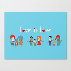 Love is Love Blue - We Are All Equal Canvas Print