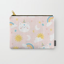 Cat Unicorn Pattern Carry-All Pouch