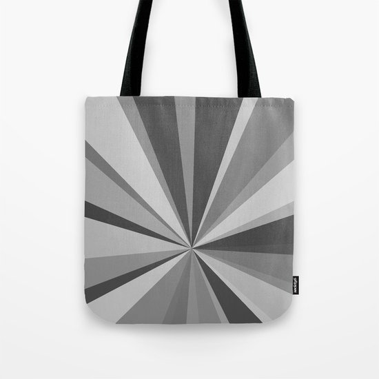 Monochrome Starburst Tote Bag