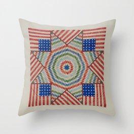 Americana Quilt Throw Pillow