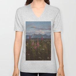 Mountain vibes - Landscape and Nature Photography Unisex V-Neck
