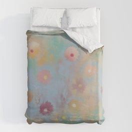 Pastel Daisies Duvet Cover