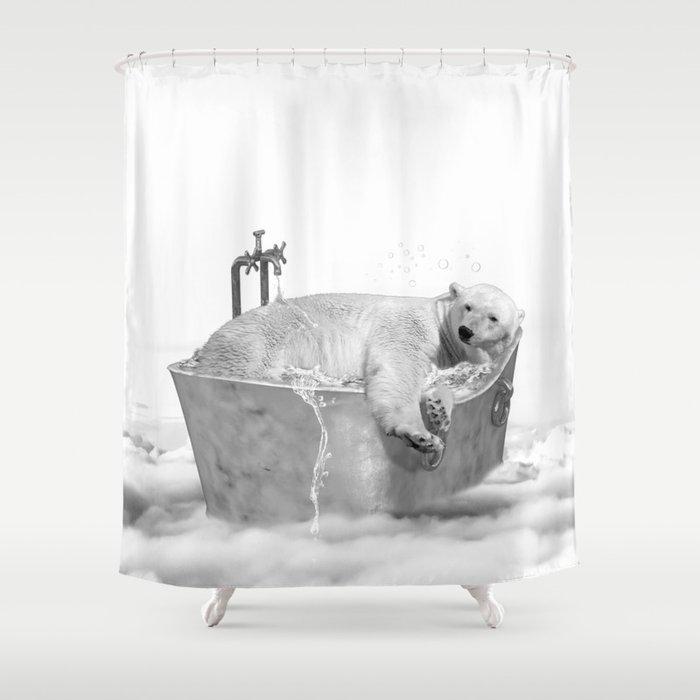 POLAR BEAR BATH Shower Curtain