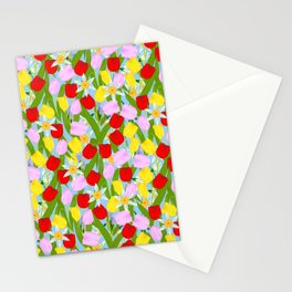 bright spring flowers Stationery Cards