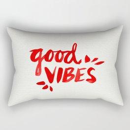 Good Vibes – Red Ink Rectangular Pillow