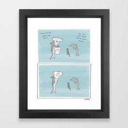 Sharks Rule  Framed Art Print