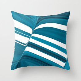 Striped of Buttery Blues Throw Pillow