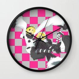 Loki and Noki (BW) Wall Clock