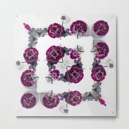Pink and Purple - Pressed Flowers Metal Print