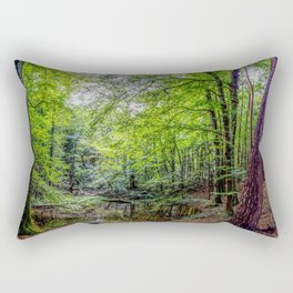Forest Landscape Rectangular Pillow