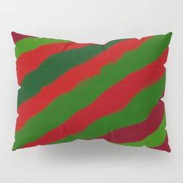 Red and Green Christmas Wrapping Paper Pillow Sham