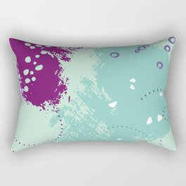 Mint viole strokes Rectangular Pillow