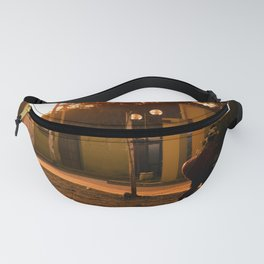 Working with sunset Fanny Pack