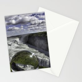 Gulfoss in Crystal Ball 1 Stationery Cards