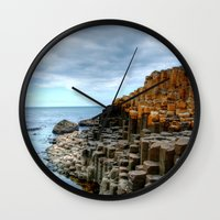 iron giant Wall Clocks featuring giant by botomica