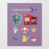 video games Canvas Prints featuring video games by Black