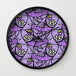 Escher Fish Pattern IX Wall Clock