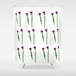 Fan's pattern design-Red carnation Shower Curtain