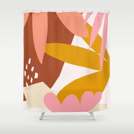 graphic leaves I Shower Curtain