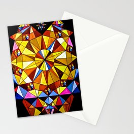 Geometric beat Stationery Cards
