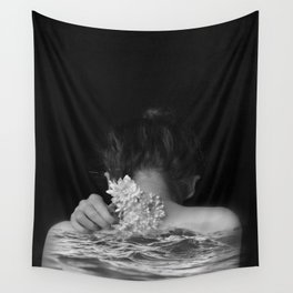 Flower and sea Wall Tapestry