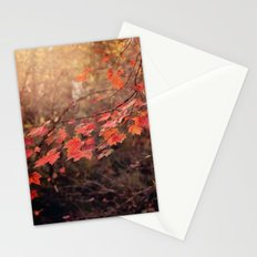 Autumn Leaves of Red Stationery Cards