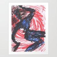 cabin pressure Art Prints featuring Pressure by Lindsey Quakenbush