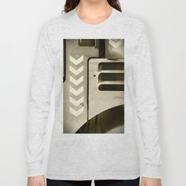 Road Roller Chevron 05 - Industrial Abstract Long Sleeve T-shirt