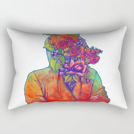 FLOWERS HEAD Rectangular Pillow