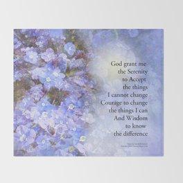 Serenity Prayer Veronica Throw Blanket