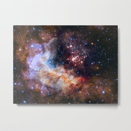 1260. NASA Unveils Celestial Fireworks as Official Image for Hubble 25th Anniversary Metal Print