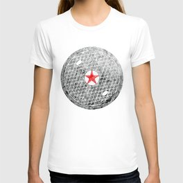 Red Star Manhole Cover Ink Print From Beijing T-shirt