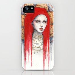 """Kaos"" Mixed Media Portrait painting iPhone Case"