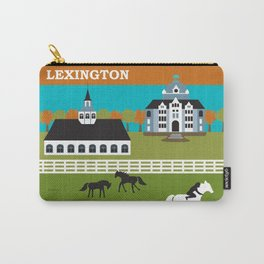 Lexington, Kentucky - Skyline Illustration by Loose Petals Carry-All Pouch