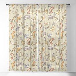 Geckos Sheer Curtain