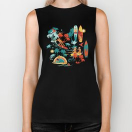 Hawaiian resort Biker Tank
